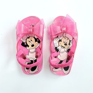 ••5-for-$25•• DISNEY Minnie Mouse Bow Flip Flops
